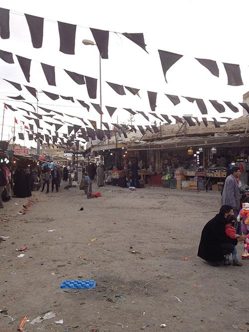 Fruktmarknad i Nasriyah