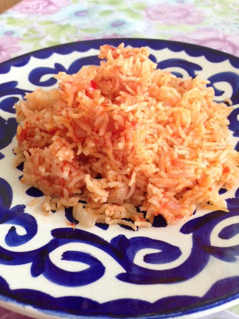 Ris med krossade tomater (tomatris)