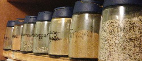 Andra kryddor i skåpet