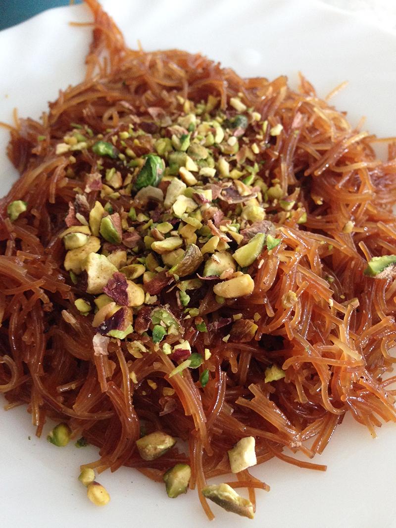 Spagetti-dessert, vermicelli (halawat sha'riyya)