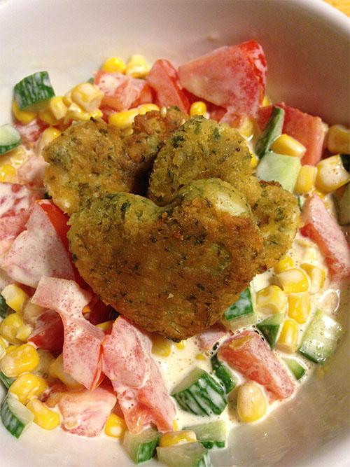 Falafel med grönsaksblandning