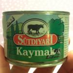 Kaymak, grädde på burk