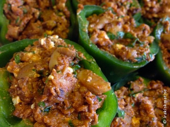 Vegetarisk fylld paprika
