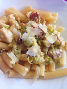 Brysselkål och pasta