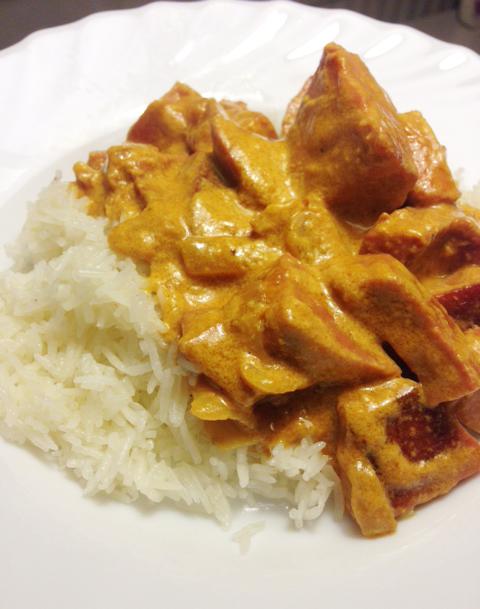Korvstroganoff med currysmak