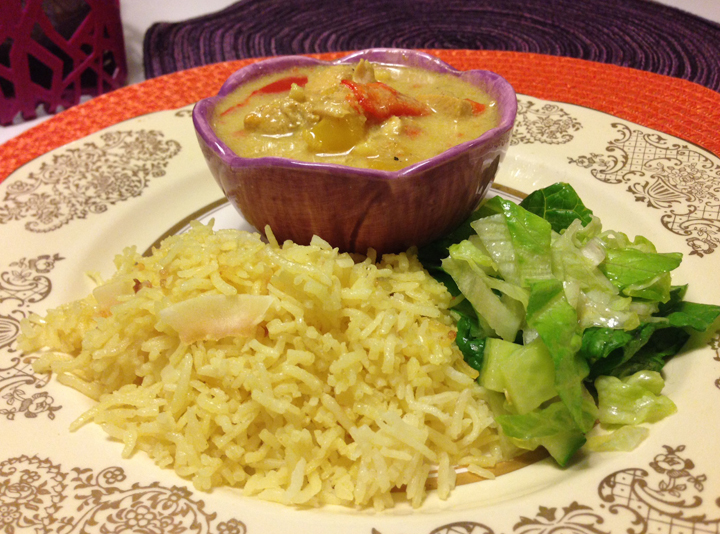 Kycklinggryta med curry och ingefära a´la indisk stil