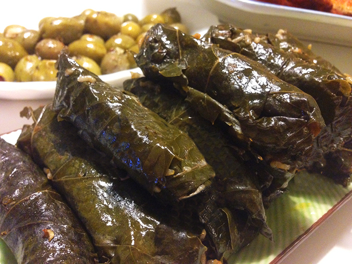 Vegetarisk dolma med kikärtor och valnötter