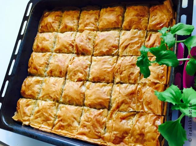 Baklava utan nötter, recept för dig som är nötallergiker