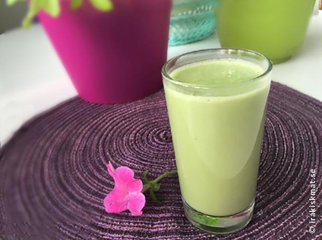 En härligt grön smoothie