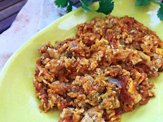 """Jättegod aubergineröra från Iran """"Mirza Ghasemi"""""""