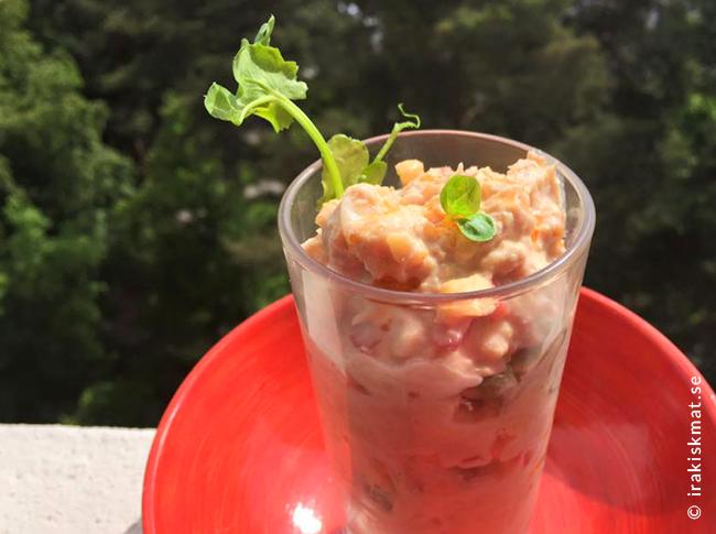 Kikärt- och tonfiskröra med het chili