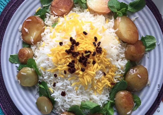 Laga perfekt persiskt ris (polo, chelo)