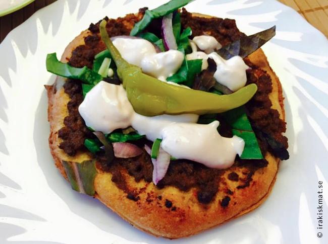 Turkisk pizza - lahmacun