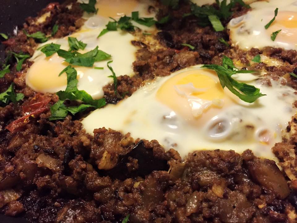 Smakrik lammfärs och aubergineröra –perfekt som bröddipp