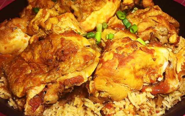 Irakisk kyckling med tomatris –en klassiker!