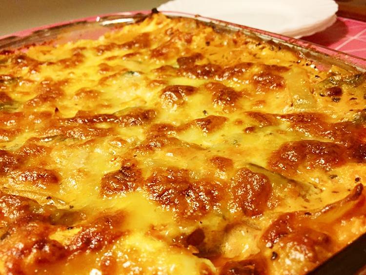 Grymt krämig vegetarisk lasagne