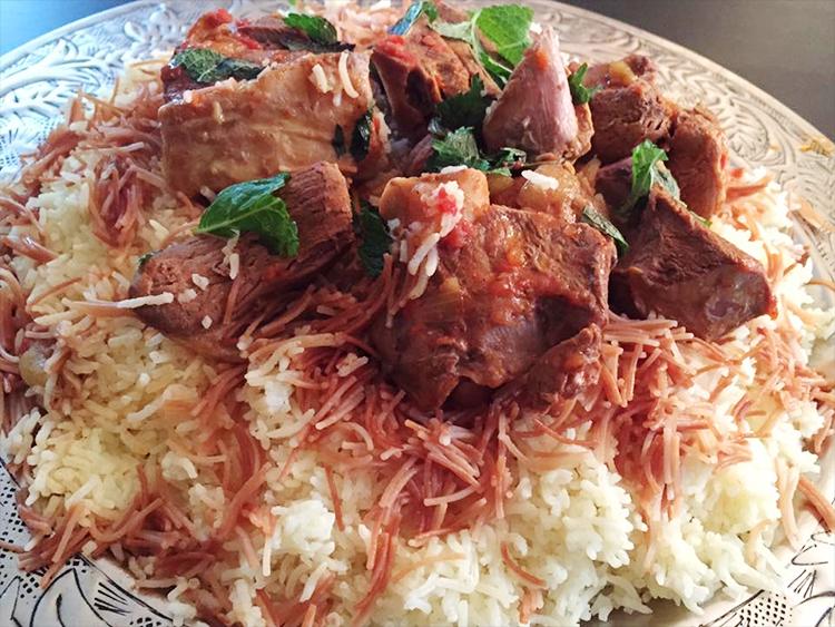 Irakisk khouzi, lammkokt i tomatsås