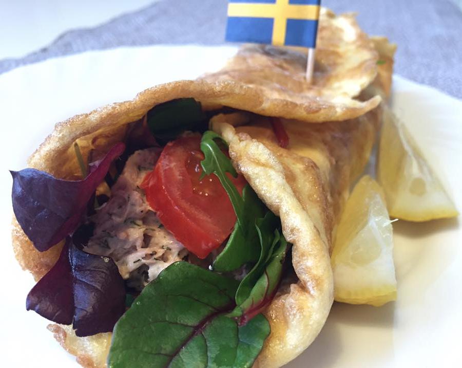 Härlig tonfiskwrap till lunch